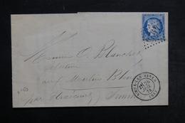 FRANCE - Lettre De Noeux Les Mines Pour Flixecourt En 1874, Affranchissement Cérès - L 32972 - 1849-1876: Période Classique