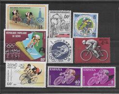 Thème Jeux Olympiques - Sports - Cyclisme - Ensemble De Timbres Neufs - Cycling