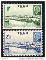 Togo N°  215 / 16   XX  :  Baie De Mono Et Effigie Du Mal Pétain La Paire Sans Charnière, TB - Togo (1914-1960)