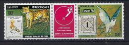 """Congo Aerien YT 244A (PA) Triptyque """" Philexafrique II """" 1978 Neuf** - Nuevas/fijasellos"""