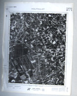 GROTE LUCHT-FOTO HOUTHULST 63x48cm KAART ORTO PLAN 1/10.000 TOESTAND In 1971 TOPOGRAPHIE PHOTO AERIENNE CARTE      R228 - Houthulst