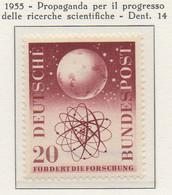 PIA - GERMANIA - 1955  : Propaganda Per Il Progresso Delle Ricerche Scientifiche  -   (Yv 88) - Nuovi