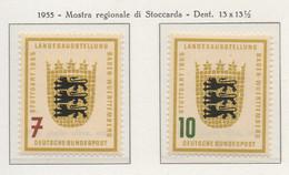 PIA - GERMANIA - 1955  : Mostra Regionale Di Stoccarda  -   (Yv 89-90) - Nuovi