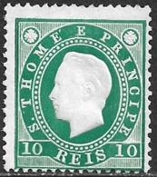 St. Thomas And Prince – 1887 King Luís 10 Réis - St. Thomas & Prince