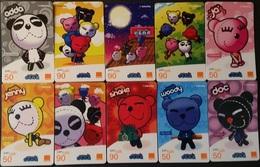 10 Mobilecards Thailand - Orange - Chilled Bear - Thailand