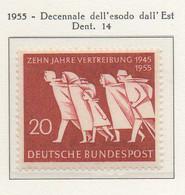 PIA - GERMANIA - 1955  : Decennale Dell' Esodo Dei Rifugiati Dall' Est  -   (Yv 91) - Nuovi