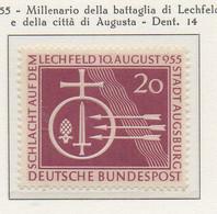 PIA - GERMANIA - 1955  : Millenario Della Battaglia Di Lechfeld E Della Città Di Augusta  -   (Yv 92) - Nuovi