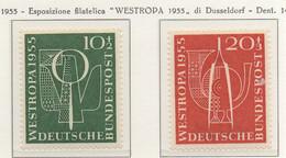 """PIA - GERMANIA - 1955  : Esposizione Filatelica """" WESTROPA 1955"""" Di Dusseldorf  -   (Yv 93-94) - Nuovi"""