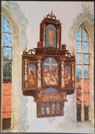 Ak Deutschland - Ostheim V. D. Rhön - Kirchenburg St. Michael - Innenaufnahme - Gemälde, Glasmalereien & Statuen