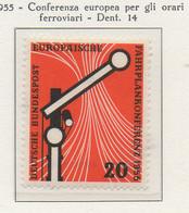 PIA - GERMANIA - 1955  : Conferenza Europea Per Gli Orari Ferroviari  -   (Yv 95) - Nuovi