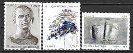 France 2014 N° 4836 - 4849 - 4888  Neufs Série Artistique à La Faciale - France