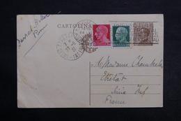 ITALIE - Entier Postal + Compléments De Rome Pour La France En 1931 - L 32986 - 1900-44 Vittorio Emanuele III