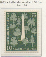 PIA - GERMANIA - 1955  : 150° Della Nascita Del Letterato Adalbert Stifter  -   (Yv 96) - Nuovi