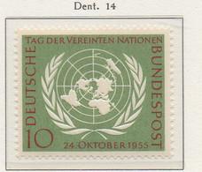 PIA - GERMANIA - 1955  : 10° Anniversario Delle Nazioni Unite  -   (Yv 97) - Nuovi