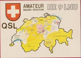 QSL Card Amateur Radio Station Funkkarte Zwitserland Switzerland Schweiz 1985 St. Sankt Gallen - Radio Amatoriale