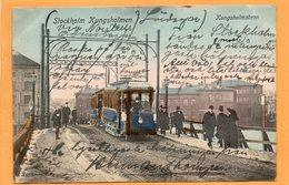 Stockholm Tram Sweden 1906 Postcard - Sweden