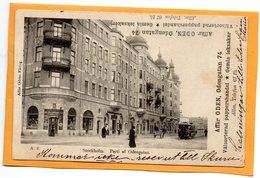 Stockholm Tram Sweden 1904 Postcard - Zweden