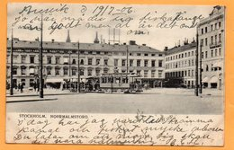 Stockholm Tram Sweden 1904 Postcard - Sweden