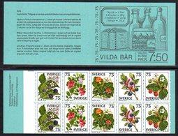 SWEDEN 1977 W[ld Berries Booklet MNH / **. Michel MH62 - Markenheftchen