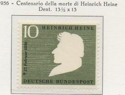 PIA - GERMANIA - 1956  : Centenario Della Morte Del Poeta Heinrich Heine  -   (Yv 103) - Nuovi