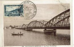 SENEGAL - Carte MAXIMUM - ST LOUIS DU SÉNÉGAL - Le Pont Faidherbe - 1948- - Sénégal