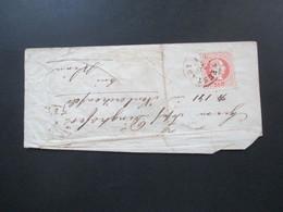 Österreich 1868 Nr. 37 EF Kleiner Brief Stempel Neustadt über Wien Nach Hernals Mit Siegel - Briefe U. Dokumente