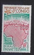"""Congo Aerien YT 245 (PA) """" Réseau De Télécommunications """" 1978 Neuf** - Mint/hinged"""