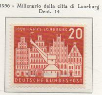 PIA - GERMANIA - 1956  : Millenario Della Città Di  Lunenburg -   (Yv 106) - [7] République Fédérale