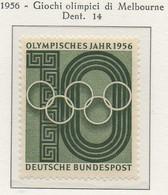 PIA - GERMANIA - 1956  : Giochi Olimpici Di Melbourne -   (Yv 107) - Nuovi