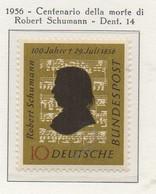 PIA - GERMANIA - 1956  : Cinquantenario Della Morte Del Compositore Robert Schumann -   (Yv 108) - Musica