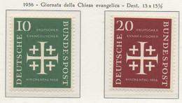PIA - GERMANIA - 1956  : Giornata Della Chiesa Evangelica  -   (Yv 109-10) - Nuovi