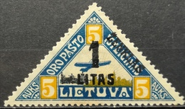 1922 LITHUANIA MLH Air Mail Overprint - Litauen
