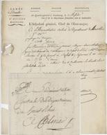 Franchise Militaire Armée Du Danube Strasbourg An 3 -1795 L'Adjudant Colmar, Ensisheim, Bâle, Cachet 5e Division Milit. - Marcophilie (Lettres)