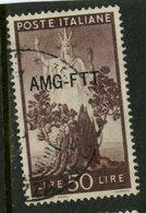 1950 Trieste 50 L  Italy Overprint Issue #68 - 7. Trieste