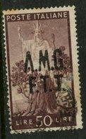 1950 Trieste 50 L  Italy Overprint Issue #13 - 7. Trieste
