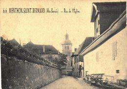 Carte Postale De MENTHON Saint BERNARD - Rue De L'Eglise - Other Municipalities