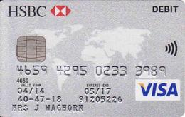 Credit Bank HSBC, Chip VISA, Debit - Cartes De Crédit (expiration Min. 10 Ans)