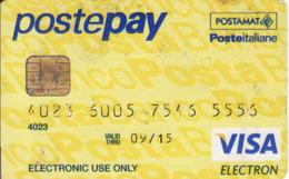 Credit Card Postepay, Chip + Magnetic VISA Electron, Posteitaliane - Cartes De Crédit (expiration Min. 10 Ans)