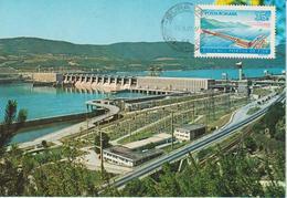 Roumanie Carte Maximum 1970 Barrage Hydroélectrique 2550 - Maximum Cards & Covers