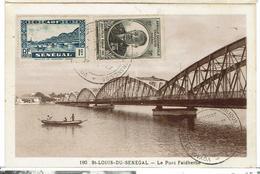 SENEGAL - Lot De 10  Cartes MAXIMUM - ST LOUIS DU SÉNÉGAL - Le Pont Faidherbe - 10 Valeurs - 10 Scans - Senegal