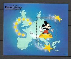 Disney Antigua & Barbuda 1992 EuroDisney MS MNH - Disney