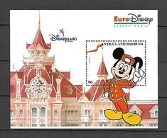Disney Antigua & Barbuda 1993 EuroDisney Open - Mickey #1 MS MNH - Disney