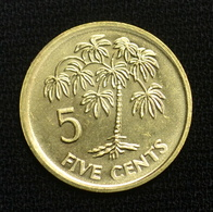 Seychelles 5 Cents (Altered Coat Of Arms) 1995 Coin Km47.2 - Seychelles
