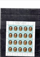 GUERNSEY 1980 - EUROPA SERIE - PERSONAGES - FULL SHEETS OF 20 STAMPS EACH OF 10 AND 13 1/2 P -GENERAL LE MARCHANT - ADMI - Guernsey