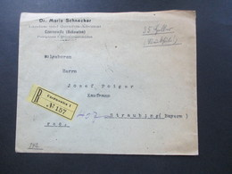Österreich 1910 Nr. 142 (7) MeF Einschreiben Czernowitz 1 (Bukowina) Dr. Moritz Schnecker Gerichts Advokat. Recommandirt - Briefe U. Dokumente