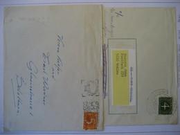 Niederlande/ Netherlands- 2 Belege Freim. Ziffernzeichnung, Beleg Freim. Juliane, FDC Hochwasserhilfe Mi. 606 - Period 1949-1980 (Juliana)