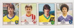 PANINI/ 4 Stickers Football1984,DIDIER SIMON(sochaux)DANIEL SOLSONA(bastia)FABRICE POULLAIN(nantes)DIDIER PHILLIPE Nancy - French Edition