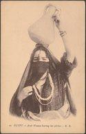 Arab Woman Bearing Her Pitcher, Egypt, C.1910 - BB Postcard - Egypt