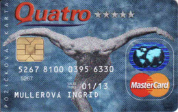 Credit Card Slovakia Quatro, Chip + Magnetic MasterCard - Credit Cards (Exp. Date Min. 10 Years)