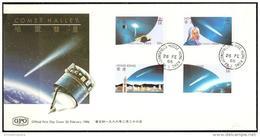 Hong Kong - 1986  Halley's Comet FDC - Hong Kong (...-1997)